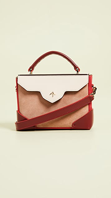 MANU Atelier Micro Bold Combo Leather Strap Top Handle Bag