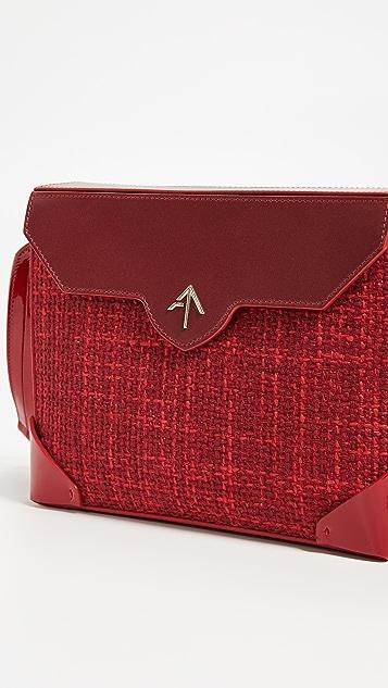 MANU Atelier Bold Tweed Combo Shoulder Bag