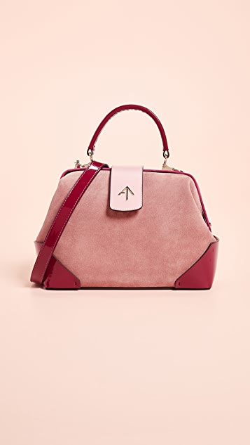 MANU Atelier Suede Frame Bag