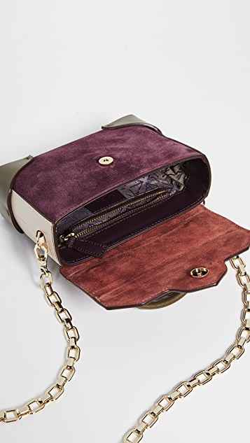MANU Atelier Micro Bold Combo Top Handle Bag with Gold Chain