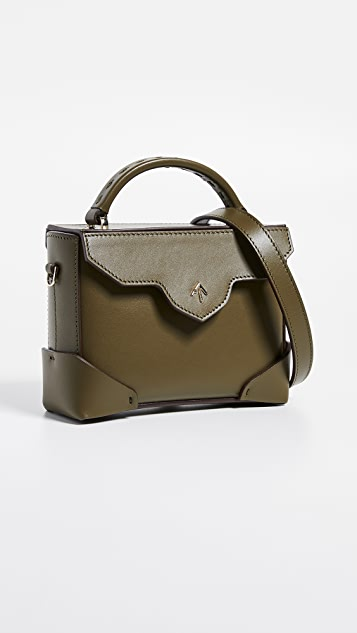 MANU Atelier Micro Bold Top Handle Bag with Leather Strap