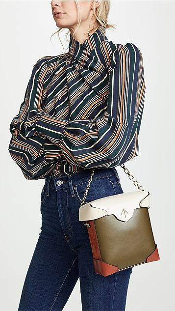 MANU Atelier Миниатюрная объемная сумка с цепочкой Pristine Combo