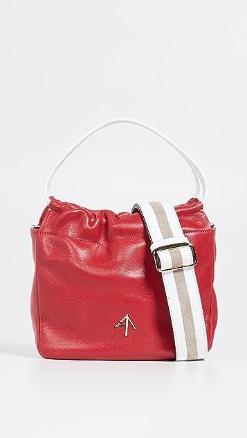 MANU Atelier Объемная квадратная сумка с короткими ручками