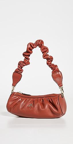 MANU Atelier - Ruched Mini Cylinder XX Shoulder Bag