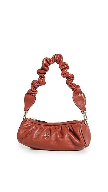 MANU Atelier Ruched Mini Cylinder XX Shoulder Bag
