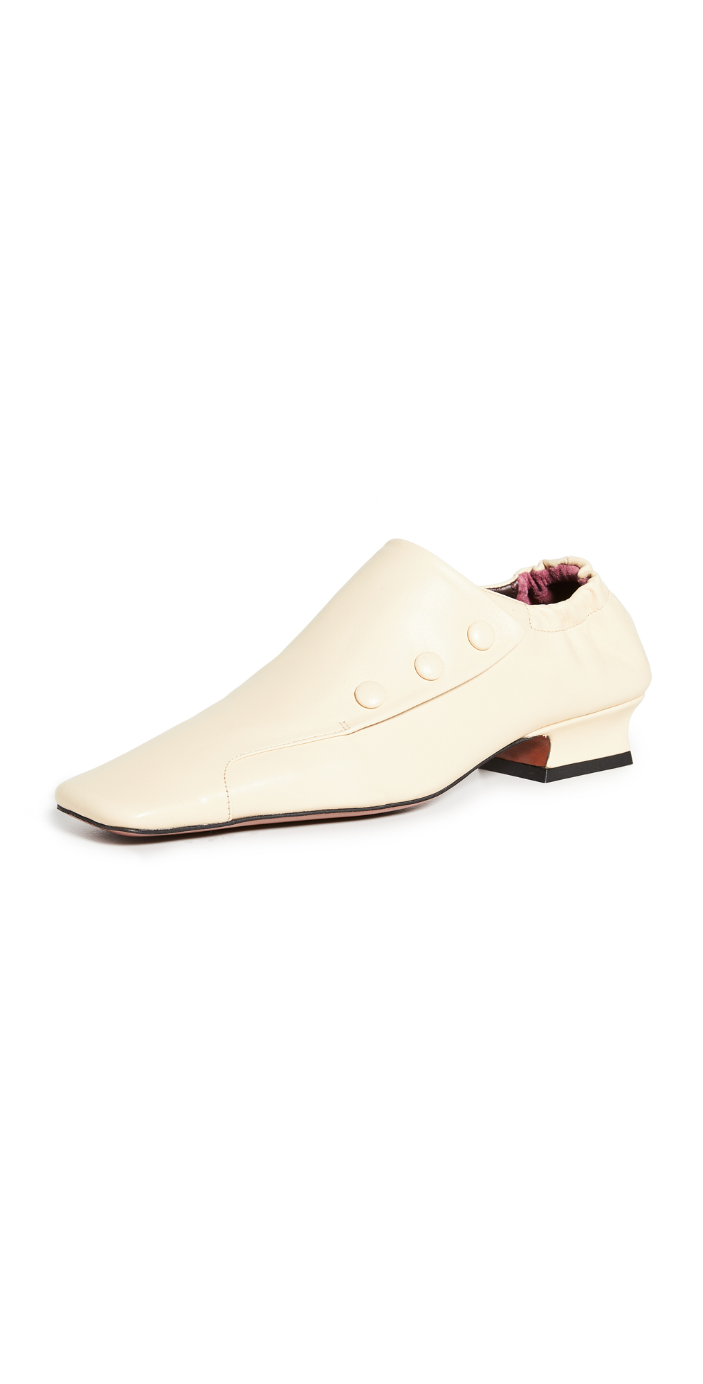 MANU Atelier Buttoned Duck Loafers