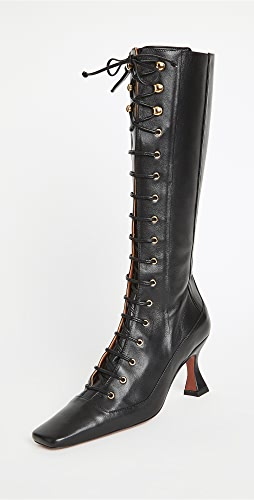 MANU Atelier - Knee High Duck Lace Up Boots