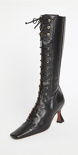 MANU Atelier - 及膝系带猎鸭靴