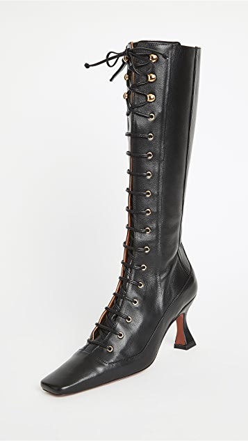 MANU Atelier Knee High Duck Lace Up Boots