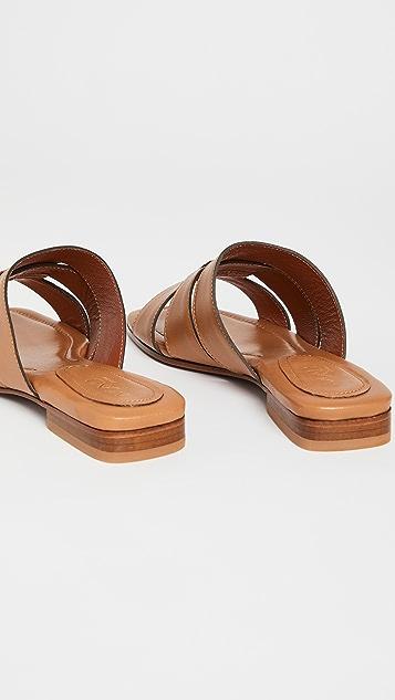 MANU Atelier 梭织皮凉拖鞋