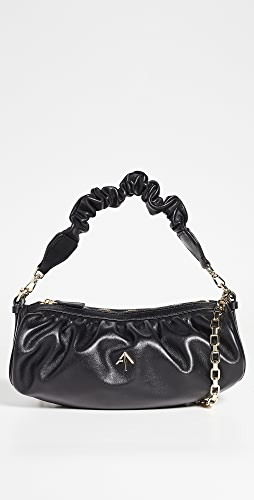 MANU Atelier - Ruched Cylinder Chain XX Bag