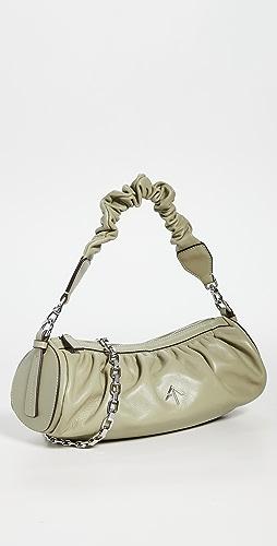 MANU Atelier - 抽褶圆筒形链条 XX 包