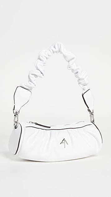 MANU Atelier Ruched Mini Cylinder XX Bag