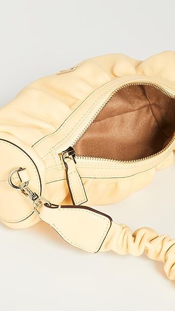 MANU Atelier Ruched Mini Cylinder Bag