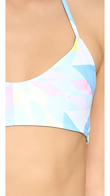 Mara Hoffman Fractals Basket Weave Bikini Top