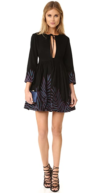 Mara Hoffman Leaf Embroidery Mini Dress