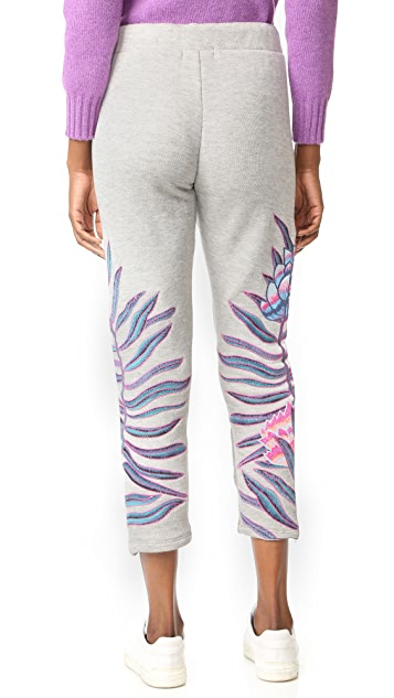 Mara Hoffman Embroidered Sweatpants