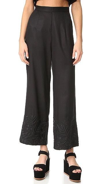 Mara Hoffman Embroidered Pants