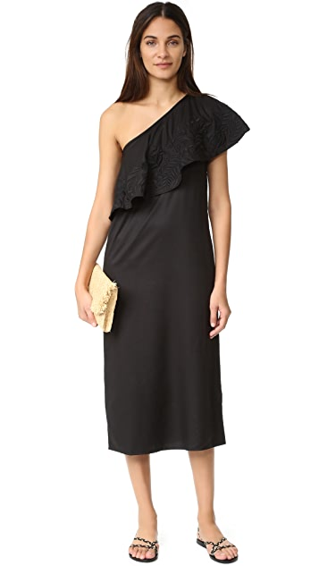 Mara Hoffman Embroidered One Shoulder Dress