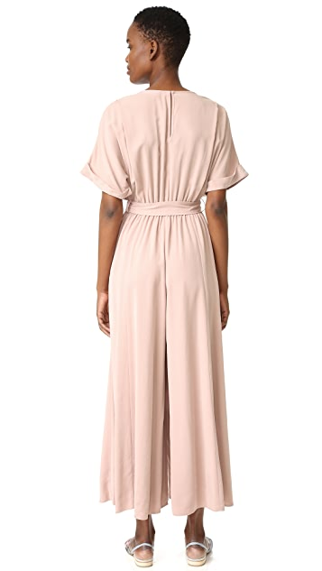 Mara Hoffman Brushed Modal Deep V Jumpsuit