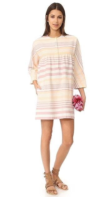 Mara Hoffman Button Front Mini Dress