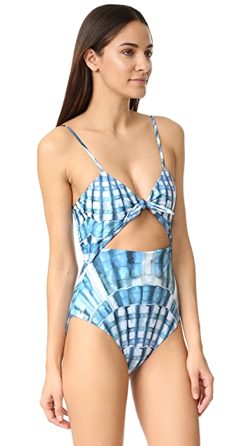 Mara Hoffman Tie Front Swimsuit