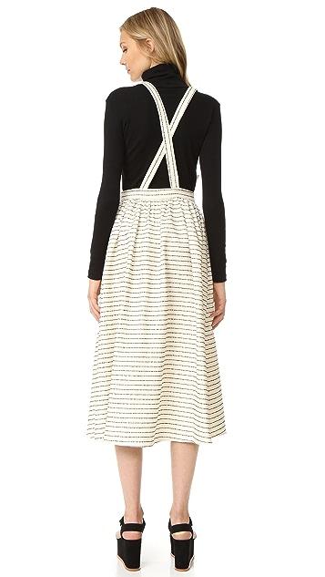 Mara Hoffman Full Skirt with Suspenders