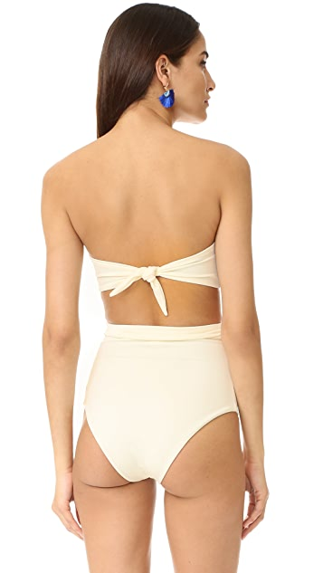 Mara Hoffman Tie Back Bikini Top