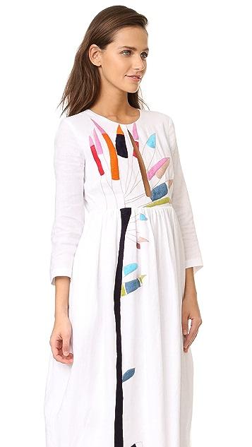 Mara Hoffman Embroidered Midi Dress