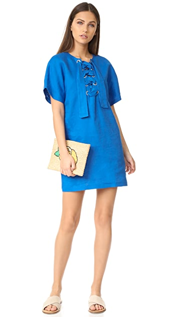 Mara Hoffman Lace Up Mini Dress