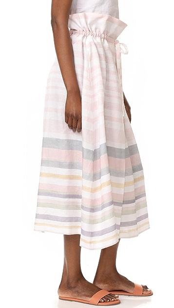 Mara Hoffman Paper Bag Midi Skirt