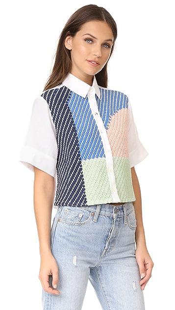 Mara Hoffman Weave Button Up Shirt