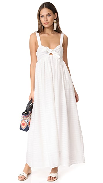 Mara Hoffman Tie Front Maxi Dress