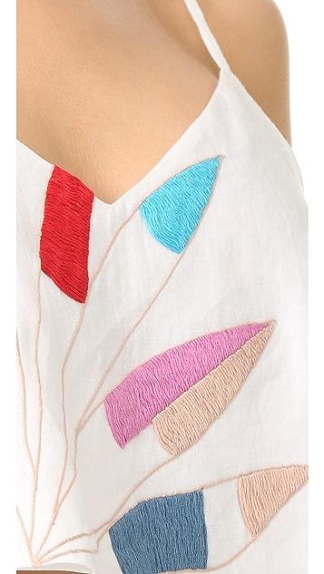 Mara Hoffman Embroidered Crop Cami