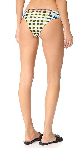 Mara Hoffman Plaid Mustard Bikini Bottoms