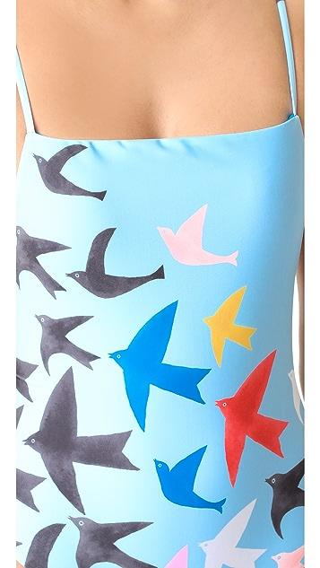 Mara Hoffman Birds High Cut One Piece