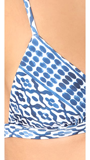 Mara Hoffman Listello Cross Back Bikini Top