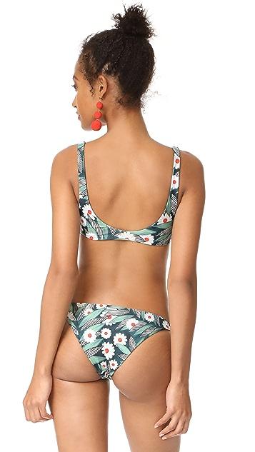 Mara Hoffman Daisy Tie Front Bikini Top