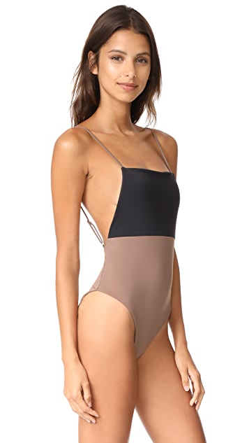 Mara Hoffman Colorblock One Piece