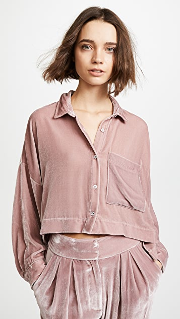Mara Hoffman Inez Velvet Button Down