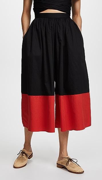 Mara Hoffman Marni Pants - Black/Red