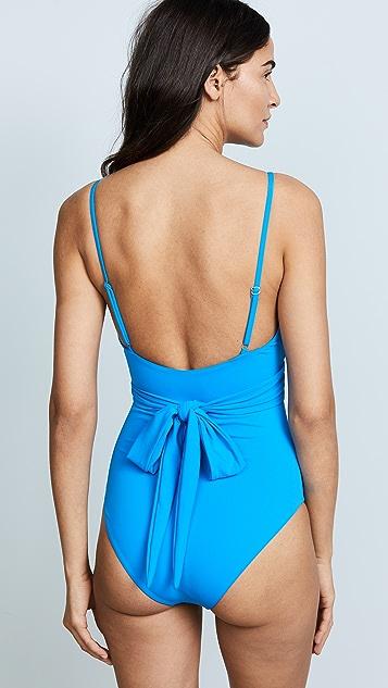 Mara Hoffman Isolde Wrap Swimsuit