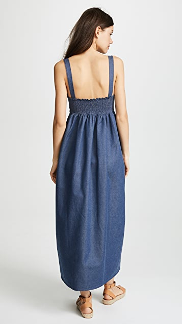 Mara Hoffman Denim Midi Dress