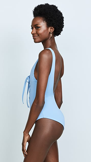 Mara Hoffman Light Blue Desa One Piece