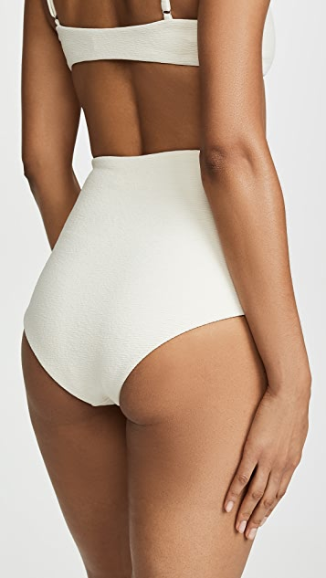 Mara Hoffman Lydia High Waist Textured Bottoms
