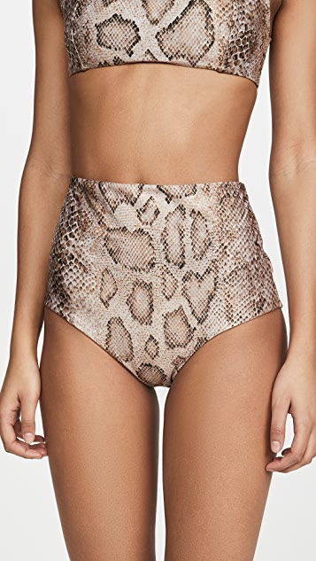 Mara Hoffman Lydia High Waisted Bikini Bottoms