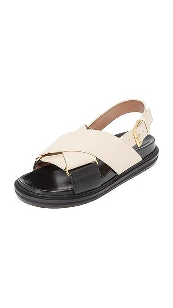 2beebba7010 Marni Fussbett Sandals ...