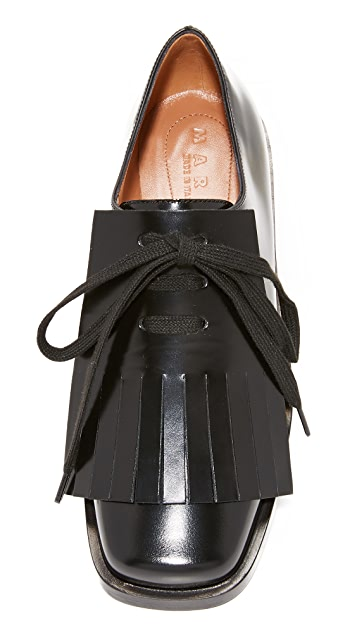 Marni Lace Up Flats