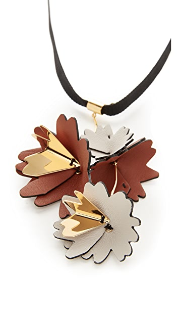 flower necklace medium operandi leather moda marni by multi double pendant
