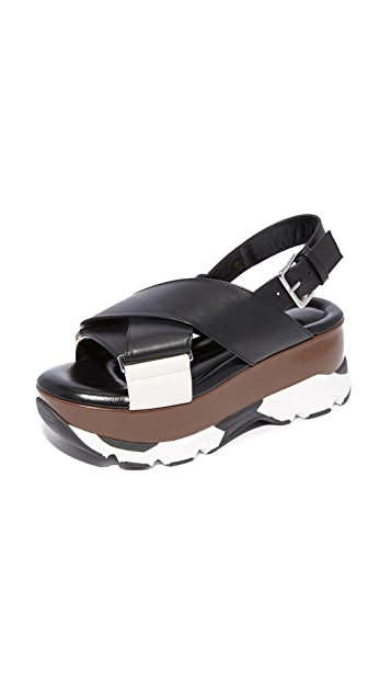 Marni Leather Platform Sandals Gr. IT 38 2YEg3h7